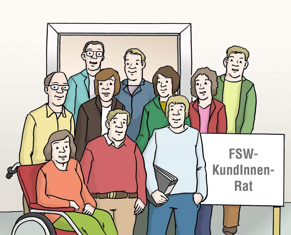 Das Gremium des FSW-KundInnen-Rats